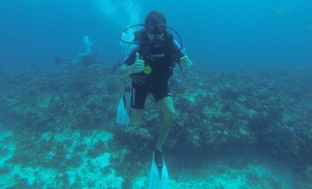 Buceando en Cancún