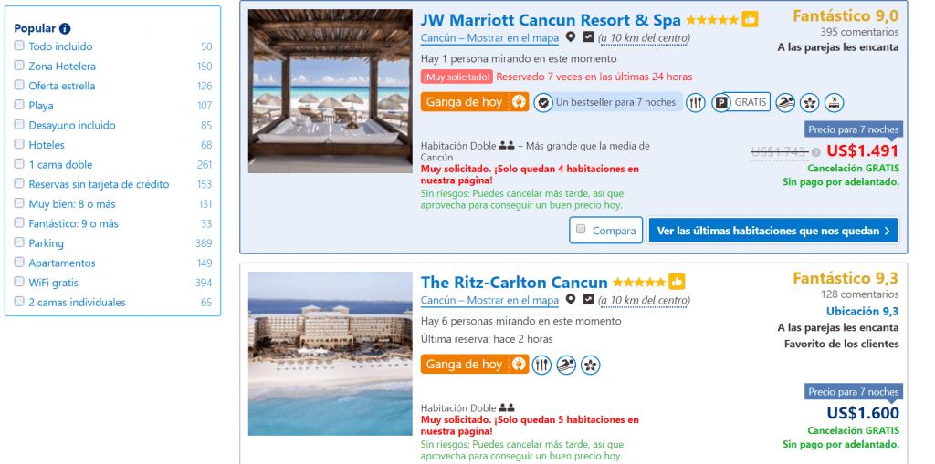 Escoge el hotel que desees