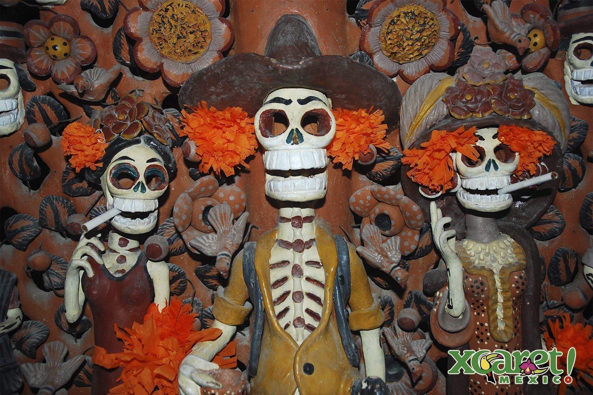 El culto a la muerte ya se rendía en México desde mucho antes de la llegada de los españoles - Foto cortesía de Parque Xcaret