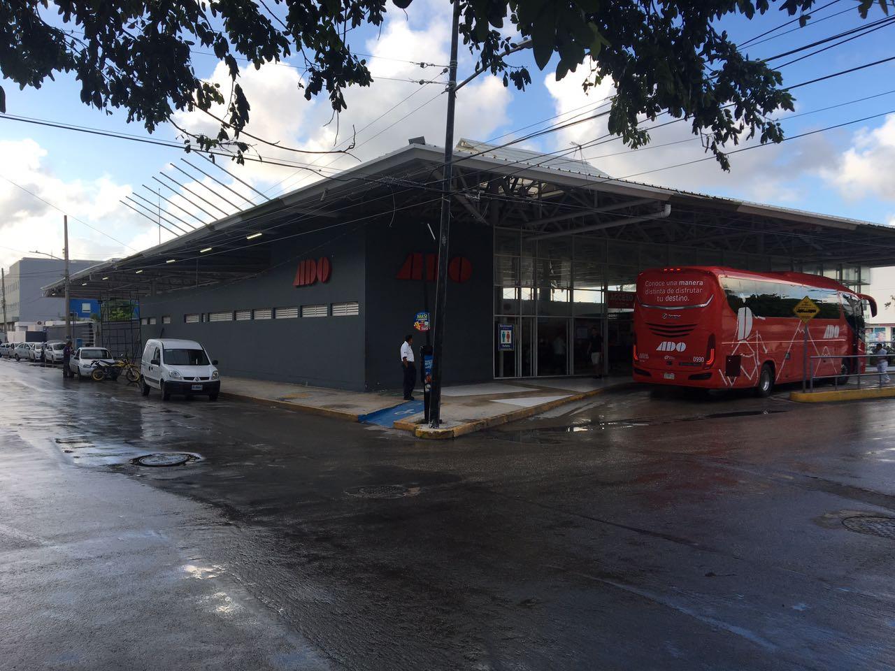 Estación de buses ADO en Playa del Carmen